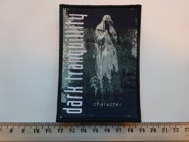 DARK TRANQUILITY - CHARACTER ( BLACK BORDER ) WOVEN
