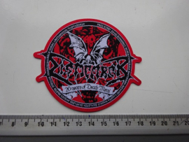 DISMEMBER - 20 YEARS OF DEATH METAL ( RED BORDER ) WOVEN