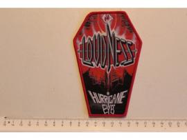 LOUDNESS -HURRICANE EYES ( RED BORDER ) WOVEN