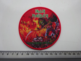 IRON MAIDEN - FROM FEAR TO ETERNITY ( RED BORDER ) WOVEN