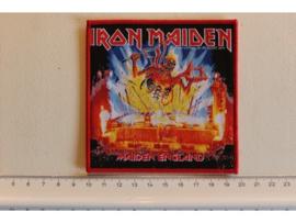 IRON MAIDEN - MAIDEN ENGLAND 1 ( RED BORDER ) WOVEN