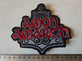 AMON AMARTH - RED NAME + LOGO