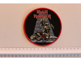 IRON MAIDEN - KILLERS ( RED BORDER ) WOVEN, DIFFERENT