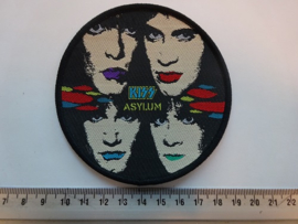 KISS - ASYLUM ( BLACK BORDER ) WOVEN