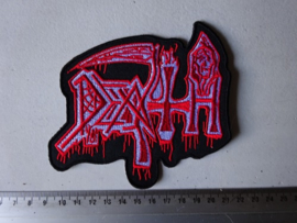 DEATH - WHITE/RED OLD LOGO ( BIG )