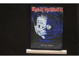 IRON MAIDEN - WASTED YEARS ( BLUE BORDER ) WOVEN