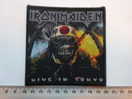 IRON MAIDEN - LIVE IN TOKYO ( BLACK BORDER ) WOVEN