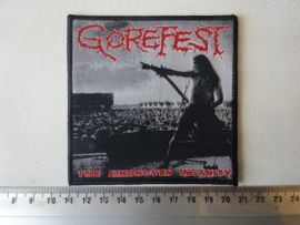 GOREFEST - THE EINDHOVEN INSANITY ( WOVEN ) BLACK BORDER