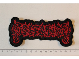 DISSECTION - RED/BLACK NAME LOGO