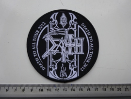 DEATH - DEATH TO ALL TOUR 2012 ( BLACK BORDER ) WOVEN