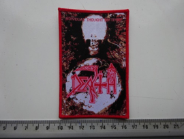 DEATH - INDIVIDUAL THOUGHT PATTERNS ( RED BORDER  ) WOVEN