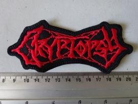 CRYPTOPSY - RED LOGO ( SHAPED )