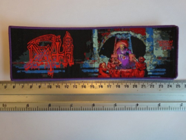 DEATH - SCREAM BLOODY GORE ( PURPLE BORDER ) WOVEN