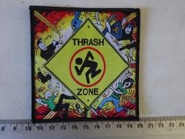 D.R.I. - TRASH ZONE ( BLACK BORDER ) WOVEN