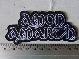 AMON AMARTH - WHITE NAME LOGO