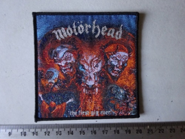 MOTORHEAD - THE FIRST GIG EVER ( BLACK BORDER ) WOVEN