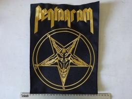 PENTAGRAM - RELENTLESS GOLD LOGO