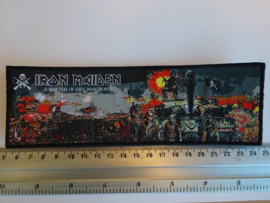 IRON MAIDEN - A MATTER OF LIFE AND DEATH ( BLACK BORDER ) WOVEN STRIPE