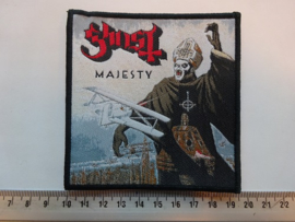GHOST - MAJESTY ( BLACK BORDER ) WOVEN