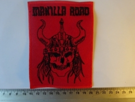 MANILLA ROAD - RED/BLACK LOGO + SKULL