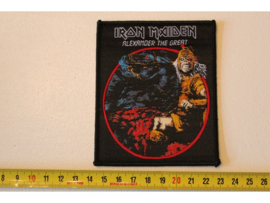 IRON MAIDEN - ALEXANDER THE GREAT ( BLACK BORDER ) WOVEN