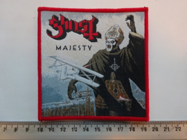 GHOST - MAJESTY ( RED BORDER ) WOVEN