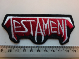 TESTAMENT - WHITE/RED NAME LOGO