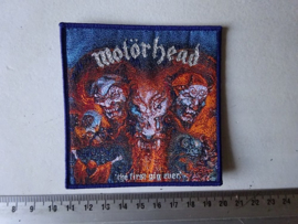 MOTORHEAD - THE FIRST GIG EVER ( BLUE BORDER ) WOVEN