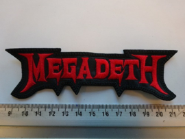MEGADETH - RED NAME LOGO