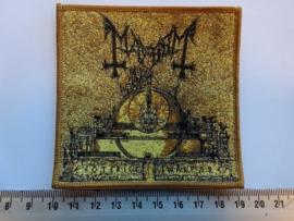 MAYHEM - ESOTERIC WARFARE ( BROWN BORDER ) WOVEN
