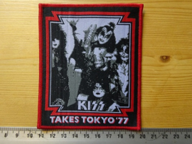 KISS - TAKES TOKYO '77 ( RED BORDER ) WOVEN