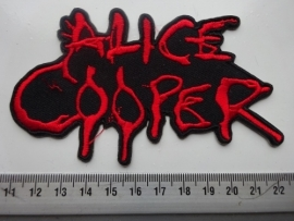 ALICE COOPER - SHAPED RED LOGO