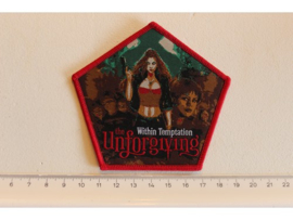 WITHIN TEMPTATION - UNFORGIVING ( RED BORDER ) WOVEN, LAST COPY!