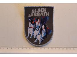 BLACK SABBATH - HEAVEN & HELL ( SILVER BORDER ) WOVEN