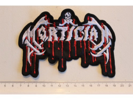 MORTICIAN - WHITE/RED BLOODY NAME LOGO