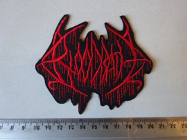 BLOODBATH - RED LOGO ( SHAPED )
