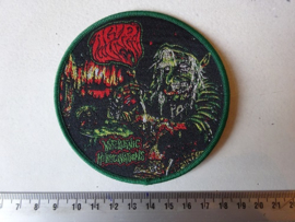 ACID WITCH - WITCHTANIC HALLUCINATIONS ( GREEN BORDER ) WOVEN