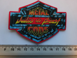 JUDAS PRIEST - METAL GODS ( RED BORDER ) WOVEN