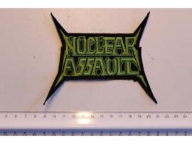 NUCLEAR ASSAULT - GREEN NAME LOGO