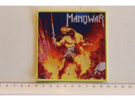 MANOWAR - LIVE AT MONSTERS OF ROCK ( YELLOW BORDER ) WOVEN