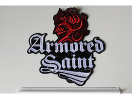 ARMORED SAINT - RED KNIGHT + WHITE NAME LOGO