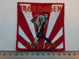 IRON MAIDEN - MAIDEN JAPAN ( RED BORDER ) WOVEN
