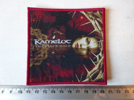 KAMELOT - THE BLACK HALO ( RED BORDER ) WOVEN