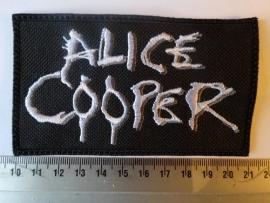 ALICE COOPER - WHITE/GREY NAME LOGO