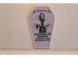 METALLICA - CLIFFORD BURTON ( WHITE BORDER ) WOVEN