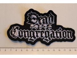 DEAD CONGREGATION - WHITE/BLACK NAME LOGO