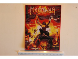 MANOWAR - THE TRIUMPH OF STEEL ( RED BORDER ) WOVEN