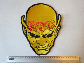 KREATOR - BEHIND THE MIRROR ( YELLOW/RED )