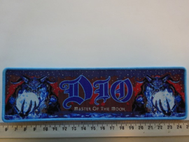 DIO - MASTER OF THE MOON ( BLUE BORDER ) WOVEN STRIPE