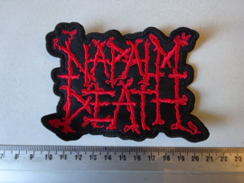 NAPALM DEATH - RED NAME LOGO